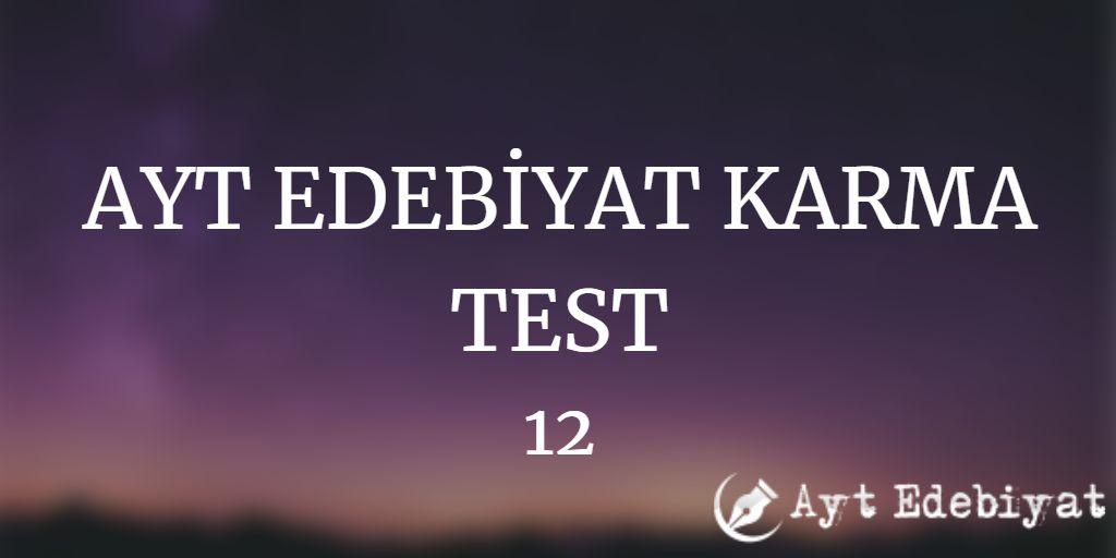 ayt edebiyat test