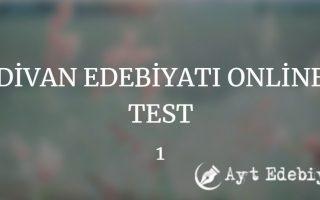 Divan edebiyat online test serimiz 20 testten oluşmaktadır. Divan edebiyatının genel özellikleri, sanatçıları, eser özetleri ve önemli detayları...