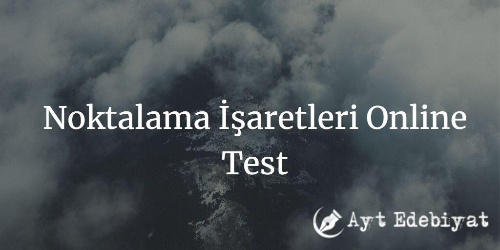 Noktalama İşaretleri Online Test