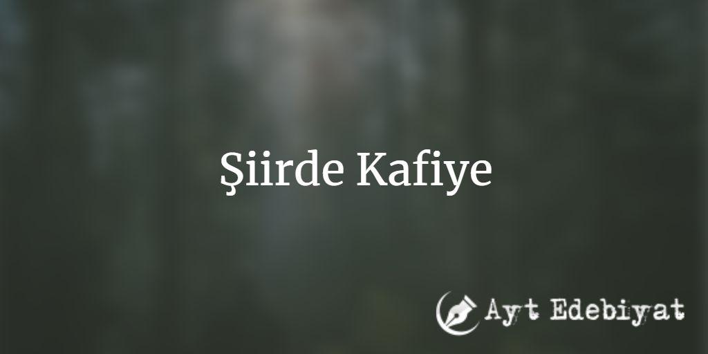 Şiirde Kafiye